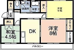 レインボーハウス有秋台西C36棟[306号室]の間取り
