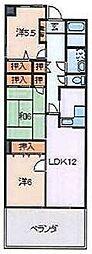 フローデンス[3階]の間取り
