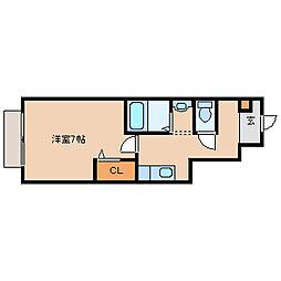 兵庫県尼崎市大庄西町4丁目の賃貸アパートの間取り