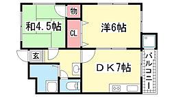 清和北町マンション[302号室]の間取り