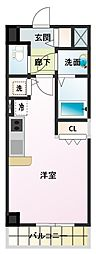 ノルデンタワー新大阪アネックス[3階]の間取り