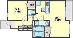 カーサ・エスペランサ3[1階]の間取り