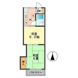 東京都江戸川区興宮町の賃貸アパートの間取り