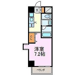プレジデント大須[301号室]の間取り