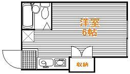 東京都練馬区豊玉北3丁目の賃貸アパートの間取り
