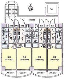 ビュークロス湘南[4階]の間取り