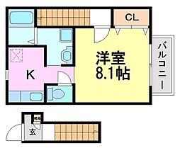 ヴェルデュールTomatsu[2階]の間取り