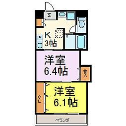 プレステージ名古屋[1203号室]の間取り