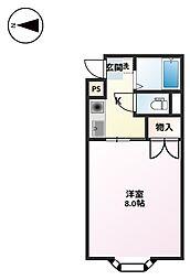 カームマンション[4階]の間取り