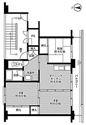 ビレッジハウス船木II1号棟[401号室]の間取り