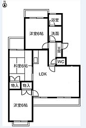 稲駅マンション[305号室]の間取り