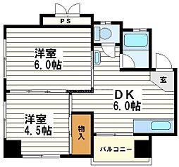 第一川原マンション[3階]の間取り