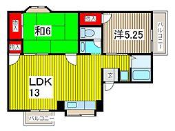 サンパーク816[2階]の間取り