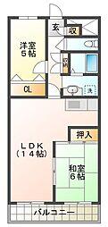 明石土山駅前スカイハイツC棟[9階]の間取り