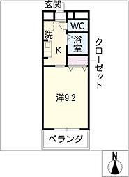 クリスタルガーデン[1階]の間取り