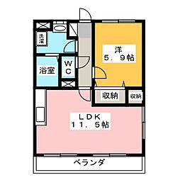 Y&Mシャルム平松本町[2階]の間取り