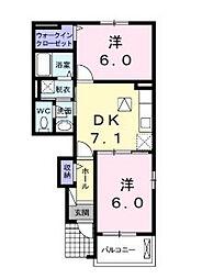 ユリスモール[1階]の間取り