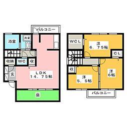 セジュールMUSASHIII[1階]の間取り