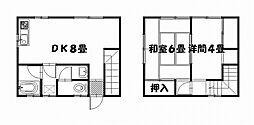 [テラスハウス] 神奈川県横須賀市衣笠栄町3丁目 の賃貸【/】の間取り