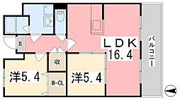 メゾン・ド・サンパティーク[405号室]の間取り