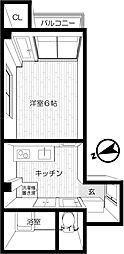東京都世田谷区等々力1丁目の賃貸マンションの間取り