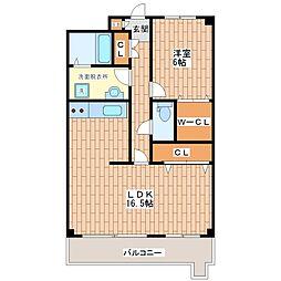 ガーデンハイツ加美C棟[3階]の間取り