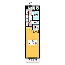アビタシオン船原[4階]の間取り