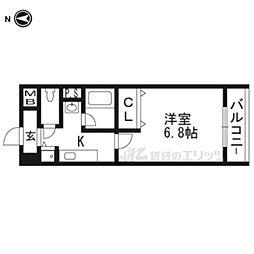 阪急京都本線 茨木市駅 徒歩11分の賃貸マンション 2階1Kの間取り