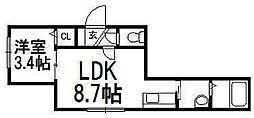 Lumiere[1階]の間取り