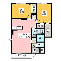 スタジオーネパルコ A[1階]の間取り