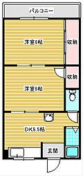 グランビルド北加賀屋II[505号室]の間取り