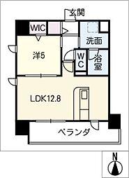 仮)千種区東山通一丁目プロジェクト 4階1SLDKの間取り