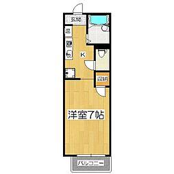 ラプラス竹鼻II[1階]の間取り