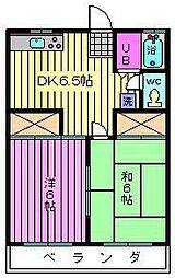 埼玉県さいたま市大宮区大成町2丁目の賃貸アパートの間取り