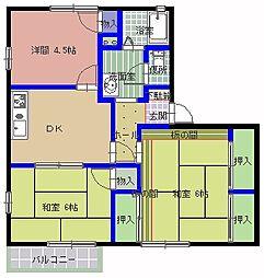 カーサ・アトリオ A棟[1階]の間取り