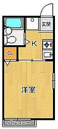 シティハイムポンソナ[2階]の間取り