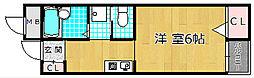 宮之阪ハイツ参番館[2階]の間取り