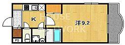 ドット松ヶ崎[305号室号室]の間取り