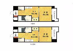La maison Cerisier Miyoshi(ラ メゾン スリジェ ミヨシ)[401号室]の間取り