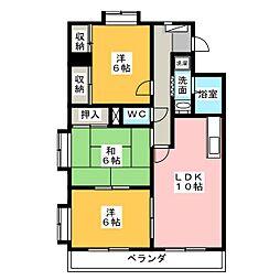 シェモアII[5階]の間取り