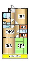 第三パークマンション西原[301号室]の間取り