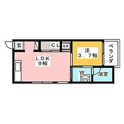 コレクション新瑞橋[1階]の間取り