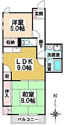 愛知県名古屋市瑞穂区内方町2の賃貸マンションの間取り