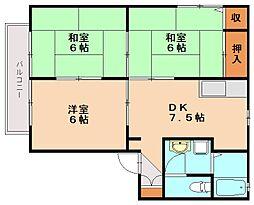 シャローム3[2階]の間取り