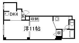 京都府京都市下京区八王子町の賃貸マンションの間取り