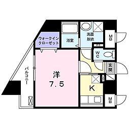 AZALEA元住吉[4階]の間取り