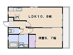 レトアK'sII[202号室]の間取り
