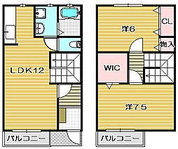 [テラスハウス] 大阪府茨木市水尾3丁目 の賃貸【/】の間取り