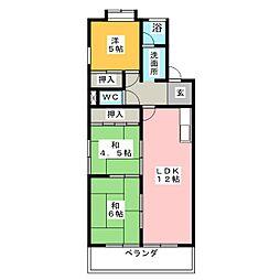 サンパーク大鐘[3階]の間取り