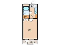 コーポ三沢[3階]の間取り